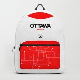 Ottawa Red Subway Map Backpack