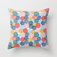 bubble Throw Pillows featuring Bubble by Emmyrolland