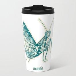 Insect's badge. Mantis. Travel Mug