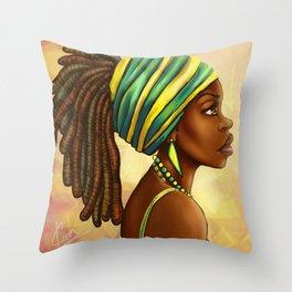 Green Yellow Wrap Throw Pillow