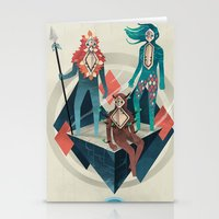 guardians Stationery Cards featuring The Guardians by Reno Nogaj