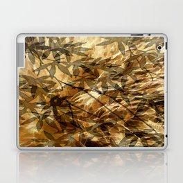 Golden Leaf Shadows Abstract Laptop & iPad Skin