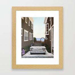 Chevy corvair Framed Art Print