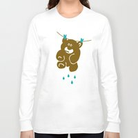 kindle Long Sleeve T-shirts featuring Teddy's Wet by Teesha Toosha