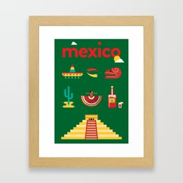 Mexico Poster Framed Art Print