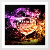arsenal Art Prints featuring ARSENAL by Acus