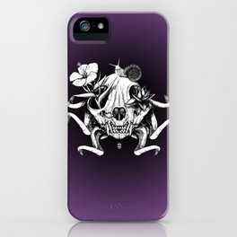 The Skull the Flowers and the Snail iPhone Case