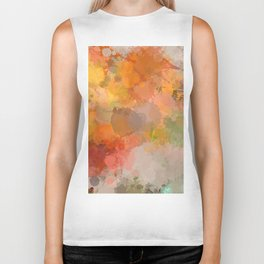 Modern contemporary Yellow Orange Abstract Biker Tank