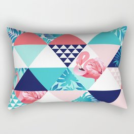 seamless pink flamingo pattern Rectangular Pillow