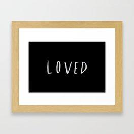 Loved II Framed Art Print