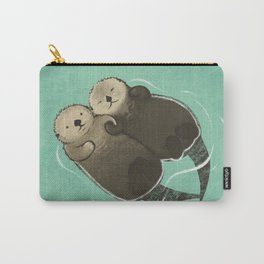 Significant Otters - Otters Holding Hands Carry-All Pouch