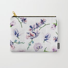 Lavender Blossom Floral Pattern Carry-All Pouch