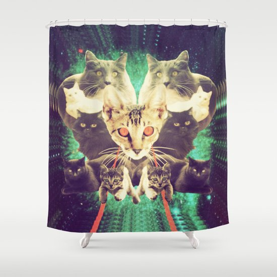 Galactic Cats Saga 1 Shower Curtain
