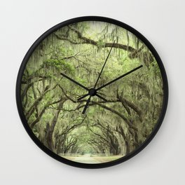 Georgia Oak Alley Wall Clock