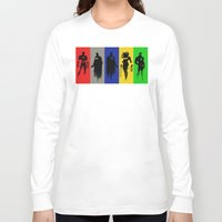 justice league Long Sleeve T-shirts featuring Justice Silhouettes by iankingart