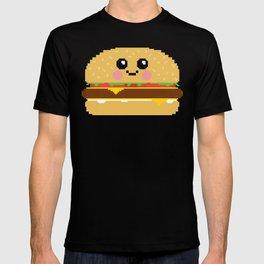 Happy Pixel Hamburger T-shirt