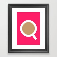 #5 Coffee Framed Art Print