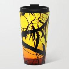 Kookaburra Silhouette Solstice Sunset Metal Travel Mug