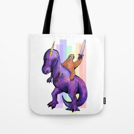 sloth dinosaur unicorn Tote Bag