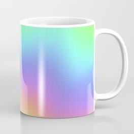 Holographic Foil Colorful Gradient Pattern Coffee Mug