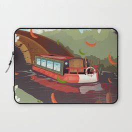 standedge tunnel Yorkshire travel poster. Laptop Sleeve