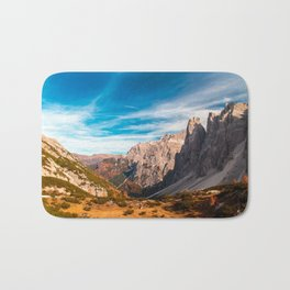 Autumn trekking in the alpine Pusteria valley Bath Mat