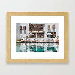 Poolside in Todos Santos Framed Art Print