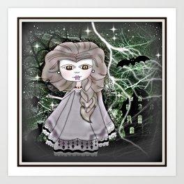Zombie Princess - Halloween Art Print