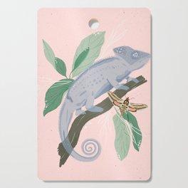 Blue Chameleon Cutting Board