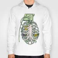 garden Hoodies featuring Grenade Garden by Huebucket