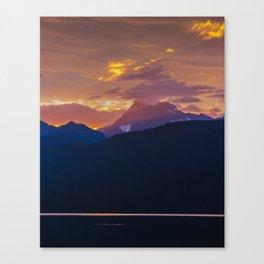 Sunrise - Glacier National Park Canvas Print