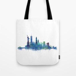 NY New York City Skyline NYC Watercolor art Tote Bag
