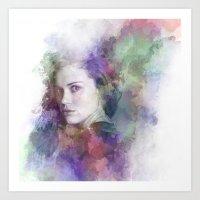 lydia martin Art Prints featuring Lydia Martin by NKlein Design