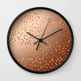 Golden Rain Wall Clock
