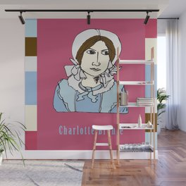 Charlotte Bronte - hand-drawn portrait Wall Mural