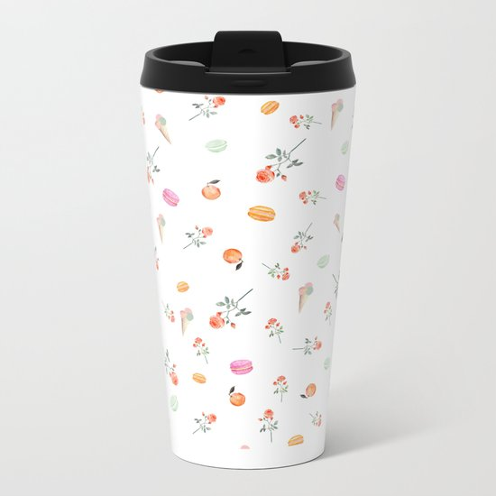 ROSES & MACARONS Metal Travel Mug
