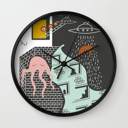 Facts urban art Wall Clock