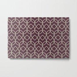 Deep Purple Gray Taupe Teardrop Geometric Pattern 2021 Color of the Year Epoch and Fondue Metal Print