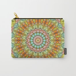 Pastel Jellybean Mandala Carry-All Pouch
