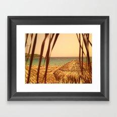 Sunny beach. Framed Art Print