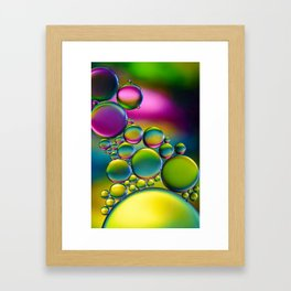 """Spherical Joining"" - Oil and Water Framed Art Print"