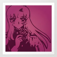 utena Art Prints featuring Take My Revolution by Dani Pinto