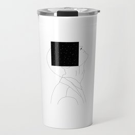 What is he thinking about? Travel Mug