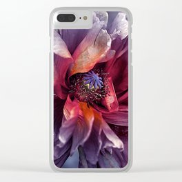 Abstract poppy(2). Clear iPhone Case