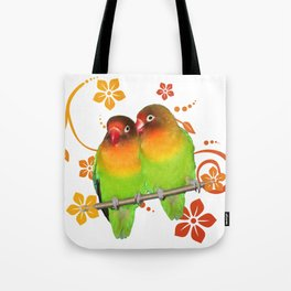 Two lovebirds Tote Bag