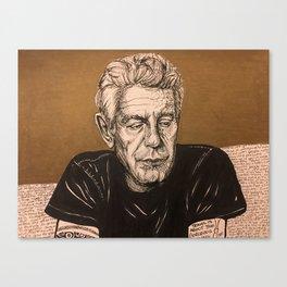Homage to Bourdain Canvas Print