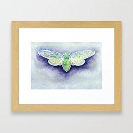 Geo Cicadas Framed Art Print