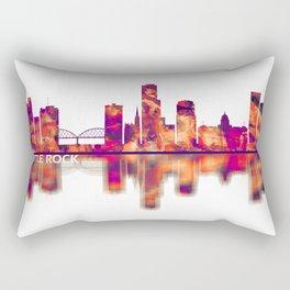 Little Rock Skyline Rectangular Pillow