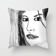 THE UNKNOWN GIRL Throw Pillow