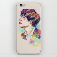 shinee iPhone & iPod Skins featuring Colorful SHINee Taemin  by sophillustration